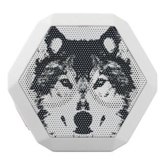 Illustrations-schwarzer Wolf Weiße Bluetooth Lautsprecher