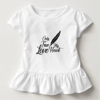 Illustrations-wahre Liebe-Feder Kleinkind T-shirt