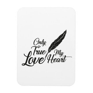 Illustrations-wahre Liebe-Feder Magnet
