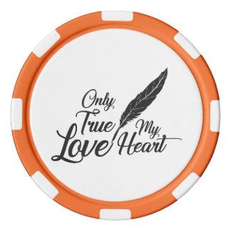 Illustrations-wahre Liebe-Feder Poker Chip Set