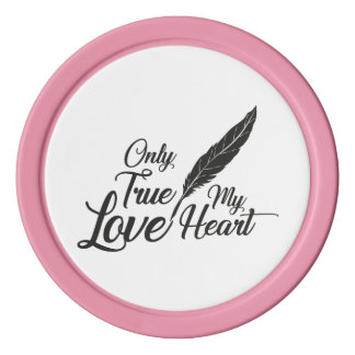 Illustrations-wahre Liebe-Feder Poker Chips