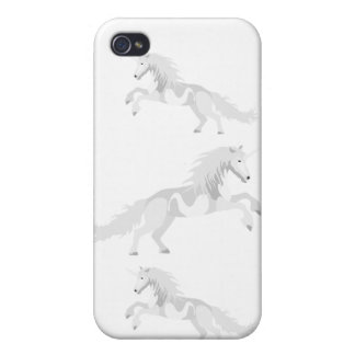 Illustrations-Weiß-Einhorn iPhone 4/4S Cover