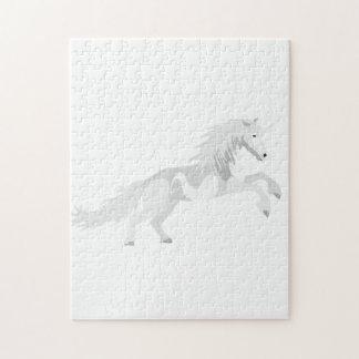 Illustrations-Weiß-Einhorn Puzzle
