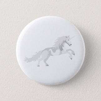 Illustrations-Weiß-Einhorn Runder Button 5,7 Cm
