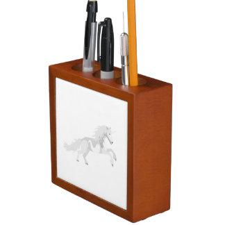 Illustrations-Weiß-Einhorn Stifthalter