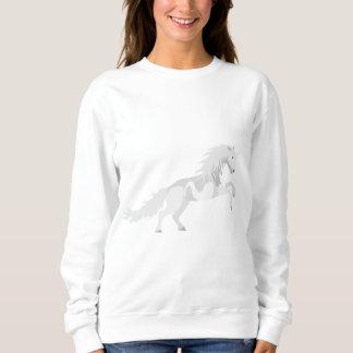 Illustrations-Weiß-Einhorn Sweatshirt