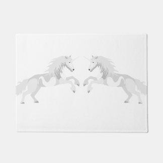 Illustrations-Weiß-Einhorn Türmatte