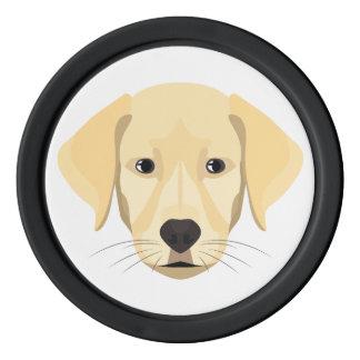 Illustrations-Welpe goldenes Retriver Poker Chip Set