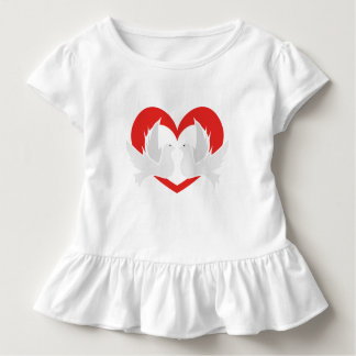 Illustrationsfriedenstauben mit Herzen Kleinkind T-shirt