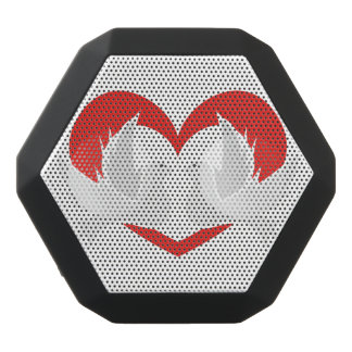 Illustrationsfriedenstauben mit Herzen Schwarze Bluetooth Lautsprecher