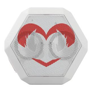 Illustrationsfriedenstauben mit Herzen Weiße Bluetooth Lautsprecher