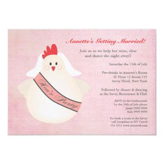 Illustrierte das Party-lustige das Huhn der Henne 12,7 X 17,8 Cm Einladungskarte