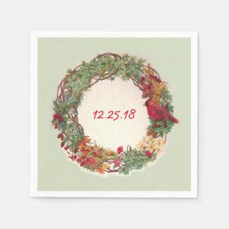 illustrierte Feiertag Wreathgewohnheit Servietten