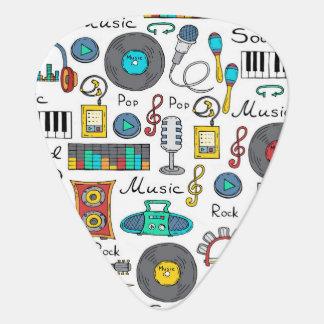 Illustrierte Musikgegenstände Plektrum