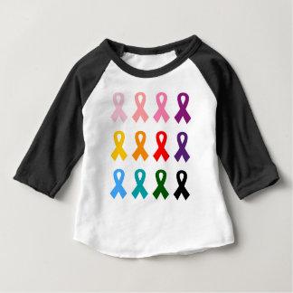 Illustrierte Sammlung der bunten Bänder Baby T-shirt