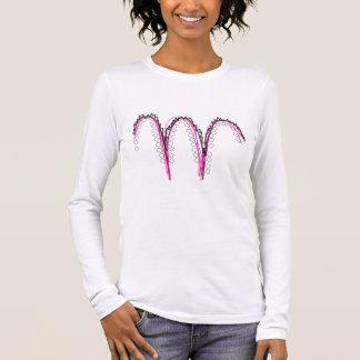 illustrierter Buchstabe Langarm T-Shirt