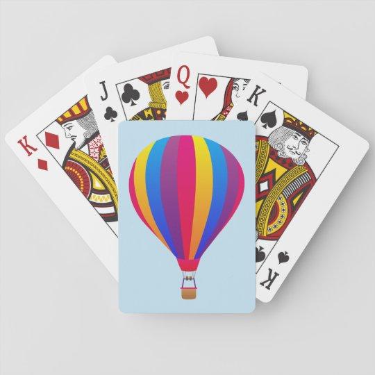 Illustrierter Heißluftballon Spielkarten