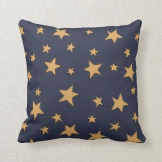 Illustrierter Nachthimmel Kissen