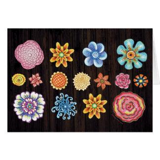 Illustriertes BlumenNotecard Karte