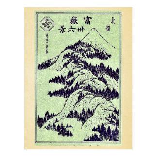 Illustriertes für Hokusais 6 Ansichten vom Fujisan Postkarte