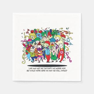 Illustriertes Leute-Tanzen Serviette