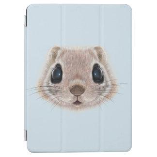 Illustriertes Porträt des Fliegeneichhörnchens iPad Air Hülle