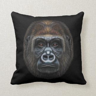 Illustriertes Porträt des Gorillamannes Kissen