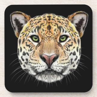 Illustriertes Porträt des Jaguars Untersetzer