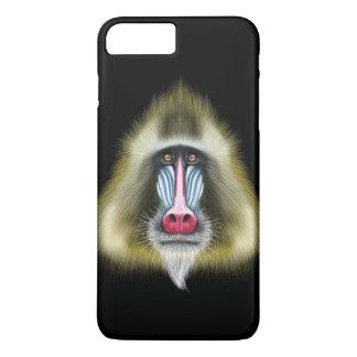 Illustriertes Porträt von Mandrill Affen iPhone 8 Plus/7 Plus Hülle