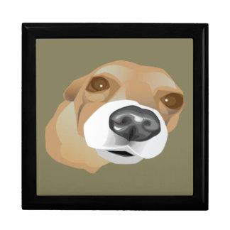 Illustriertes vektorporträt eines kleinen Hundes Erinnerungskiste