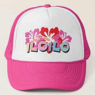 Iloilo Philippinen auf tropischen Hibiskus-Blumen Truckerkappe