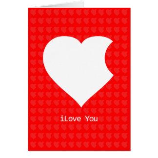 iLove, das Sie kardieren (Rot) Karte