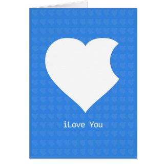 iLove Sie Karte-blau Karte