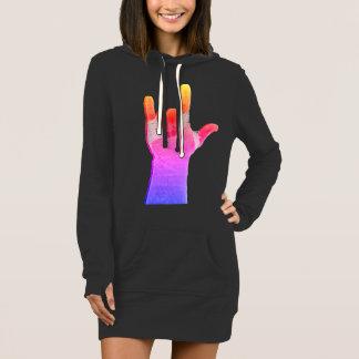 ILY grafisches Hoodie-Kleid Kleid