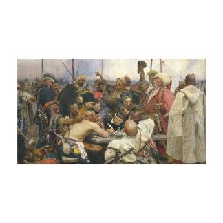 Ilya Repin Antwort der Zaporozhian Kosaken Leinwanddruck