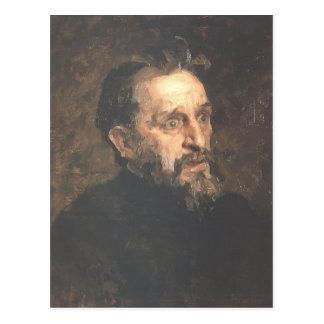 Ilya Repin- Porträt des Malers Grigory Myasoyedov Postkarte