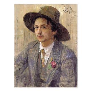 Ilya Repin-Porträt des Malers Isaak Brodsky Postkarten