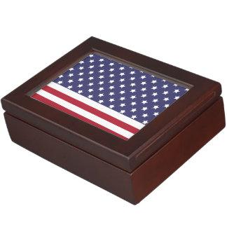 Im amerikanischen Stil Flaggen-Patriot-Entwurf Erinnerungsschachtel