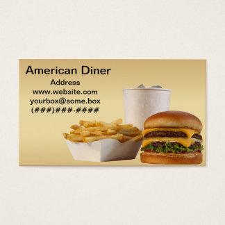 Im amerikanischen Stil Restaurant Visitenkarte