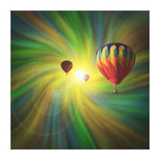 Im Ballon aufsteigen in Fantasie-Turbulenz Leinwanddruck