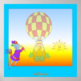 Im Ballon aufsteigen Poster