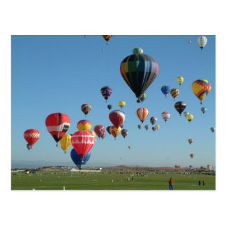 Im Ballon aufsteigen Postkarte