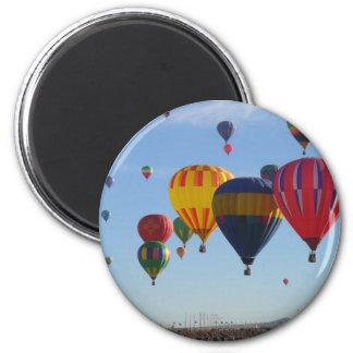 Im Ballon aufsteigen Runder Magnet 5,1 Cm