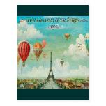 Im Ballon aufsteigen über Paris Postkarten