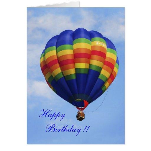 Im Ballon aufsteigende Geburtstagskarte der Karten