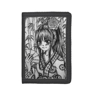 Im Bambushain -Mangaprinzessin im Kimono