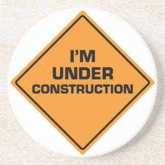 Im Bau Sandstein Untersetzer