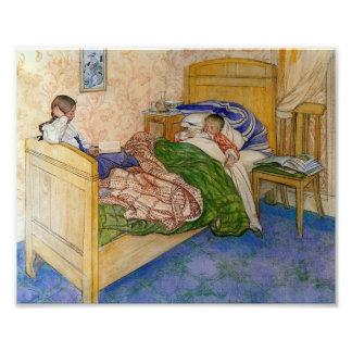 Im Bett 1908 der Mama Photodruck