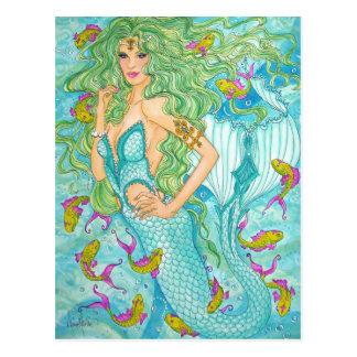 Im Blau durch Diana S Martin Postkarte