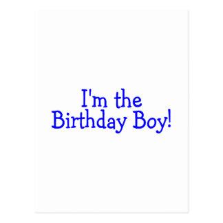 Im der Geburtstags-Junge (blau) Postkarte